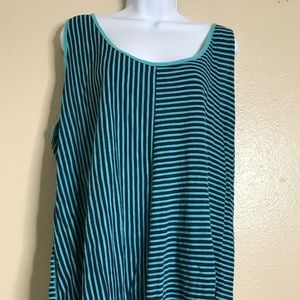 Lane Bryant Womens Plus Size 22 Tank Stripe Green